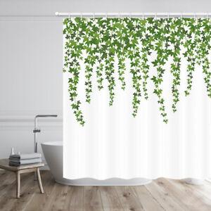 "Green drooping vines Shower Curtain Bathroom Decor Fabric & 12hooks 71"""