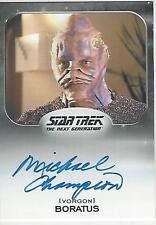 Star Trek 50th Anniversary Aliens Expansion Michael Champion Autograph