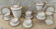 Service thé café Porcelaine de Limoges dorure