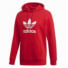 Adidas Originals Adi Trefoil Sudadera con Capucha Sudadera Rojo Blanco