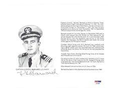 LLOYD BARNARD SIGNED 8X10 (D) PSA DNA AC42061 WWII ACE 8 KILLS