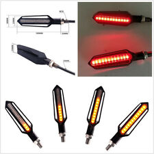 Pair 12V 24LED Flowing Motorcycle ATV Brake Tailight Turn Signal Lamps Amber+Red