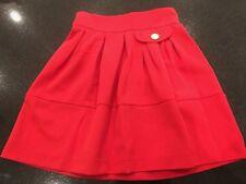 """New TopShop RED  Skater  Skirt RRP £27 Sizes 6  8 10 Mini 18"""""""
