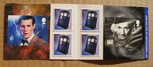 Error 2013 50th ANNIVERSARY/DOCTOR WHO  SELF ADHESIVE CYLINDER BOOKLET PM36