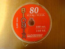 NYLON GRAUVELL BIONIX 100 M ( 0,80 MM- 41,5 KG / 91,3 Lb )