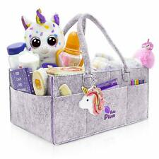 Baby Shower Gift Basket Nursery Diaper Tote Bag Storage Bin for Changing Table