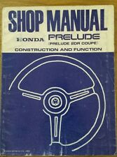 Honda Prelude car Shop Manual Construction and Function 1983