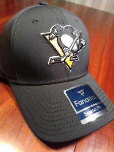 Pittsburg Penguins NHL Fanatics Flex Stretch Fit Hat s/m elevated speed logo new