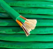1000' ft, 48 Fiber Optic Cable, 50/125 µm 10 Gig Green Plenum OM3 Multimode OFNP