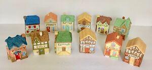 12 Spice Houses Plus Pro Div 1994 Vintage Cottage Village