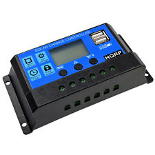 HQRP 30A Solar Battery Charge Controller/Regulator 30Amp 12V / 24V Auto Charging
