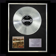 SYSTEM OF A DOWN TOXICITY  CD PLATINUM DISC VINYL LP FREE SHIPPING TO U.K.