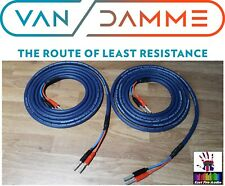 Van Damme Blue Series 2x2.5mm Speaker Cable 2.5m PAIR - Silver Deltron plugs
