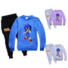 Sonic the hedgehog Tracksuit Kids Children Long Sleeve Sweatshirt+ Pants Trouser