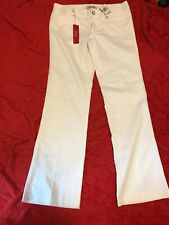 BNWT GUESS Ladies White Boot Cut Trouser Size 29