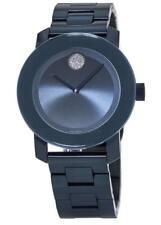 New Movado Bold Blue PVD Stainless Steel Bracelet Women's Watch 3600388
