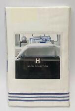 Hotel Collection Euro Pillow Sham Wrinkle Resistant Tuxedo Embroidery White/Blue