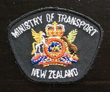 Vintage Ministry of Transport New Zealand Shoulder Patch  Flash