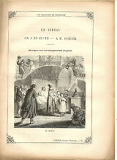 """Partition """"Les Chansons de Béranger"""" N°7 Lire détails sur la photo.8 pages.RARE+"""