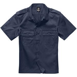 Brandit US Shirt 1/2 Short Sleeve Work Mens Army Uniform Summer Top Marine Navy