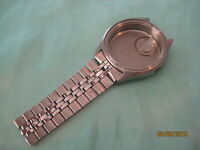 Vintage Seiko Watch Case and Partial Band 0903-7039  ~  No Movement