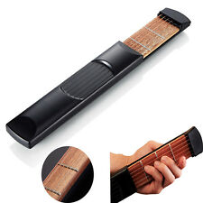 Portable Pocket Guitar 6 String 4 Fret Model Wooden Practice For Beginner