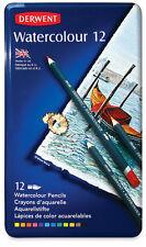 Derwent Watercolour 12 Pencils, Metal Tin Box, 12 Count
