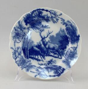 8640132 Porzellan russischer Teller Blaumalerei Hirschpaar