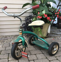 Vintage 1950's EVANS COLSON GREEN CHILDS TRIKE tricycle Plymouth MI USA Retro