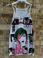 NWT CRYSTAL ROCK by Christian Audiger Limited Edition Fashion Tank Top Size...