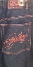 Crest The Collection Womens Jeans Size 17/18 Dark Wash Hot Pink Stitching Accent