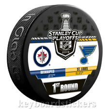 Winnipeg Jets vs St. Louis Blues 2019 Stanley Cup Playoffs Dueling Hockey Puck