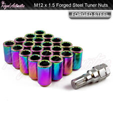 20 M12x1.5 Tuner Wheel Nuts Slim Internal Drive Mazda MX5 RX7 RX8 NEO Chrome
