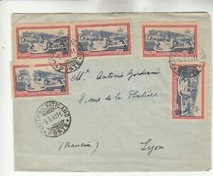 Vatican Cover w/ LL Stamp damaged
