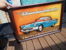 cadre COUNTRY CORNER bas relief vintage car voiture Ford T-Bird Thunderbird