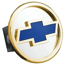 Au-Tomotive Gold Licensed for Chevrolet Blue Class 3 Trailer Hitch Plug Cover