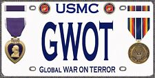 Marine - War on Terror- Purple Heart - Tough, Durable Magnet-