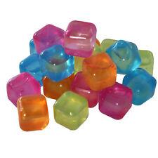 80 Stück Eiswürfel Party Kunststoff bunt wiederverwendbar Eis Cube Würfel