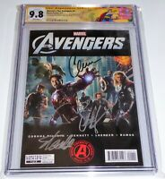Marvel's The Avengers #1 CGC SS Signature Autograph STAN LEE EVANS HEMSWORTH 9.8