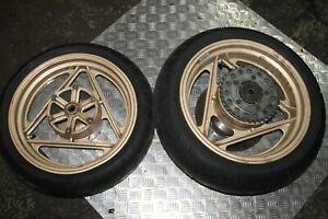 "DUCATI 750 SPORT (88-90)  F1 TT1 TT2 16"" FRONT AND REAR WHEELS / TYRES"