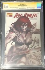 RED SONJA #1 CGC SS 9.6 SIGNED LINSNER