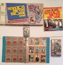 VINTAGE 90s New Kids On The Block Lot BOARD GAME VHS TRADING CARDS BOOK CAS TAPE