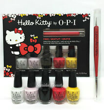 Nail Lacquer opi- MINI Hello Kitty Friend Pack- 5 colors x 3.75ml+ Nail Art Tool