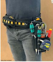 ToughBuilt Tool Work Belt Padded Buckle Back Support Comfort Heavy Duty Steel