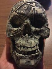 Dollar Bill Skull Bones Ivory $ Million Skulls Collector Piece Money Cash GREED