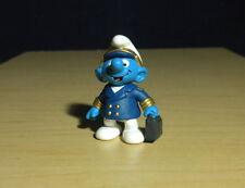 Smurfs Aircraft Captain Smurf Airplane Pilot Figure Vintage Toy Figurine 20470