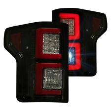 Recon 264268BK - Black/Smoke Fiber Optic LED Tail Lights for 15-17 Ford F150