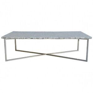 Bone Inlay Rectangular Coffee Table Grey Geometric (MADE TO ORDER)