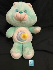 "Vintage 1983 Kenner AGC Care Bears BEDTIME Bed Time BEAR 13"" Plush GUC"