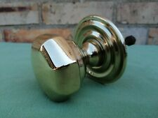BEAUTIFUL VICTORIAN LARGE SOLID BRASS FRONT DOOR KNOBPOLISHED
